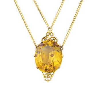 The rare Willows 35.73-carat yellow sapphire pendant – the largest ever offered at an Australian auction – sold for a staggering $122,000 in Melbourne on May 12 through Sotheby's Australia. Chairman Geoffrey Smith said the yellow sapphire was exceptional and achieved $3414 a carat.