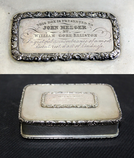 A sterling silver table snuffbox, linked to an unfortunate tragedy, is bound to intrigue both history buffs and auction goers when Gowans Auctions holds its forthcoming special sale from 10am on Saturday June 20 at 37 Main Road, Moonah in Hobart, Tasmania.