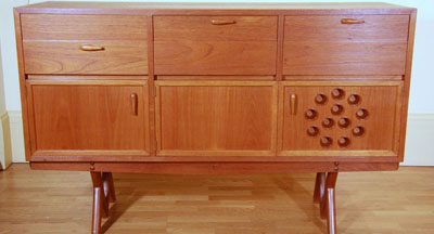 A Schulim Krimper sideboard, containing a radio, record player and speaker will be offered at Philips Auctions forthcoming sale from noon on Sunday June 21. The sideboard was exhibited at the Krimper Retrospective held in 1959 by the National Gallery of Victoria and carries an estimate of $4000-$6000.