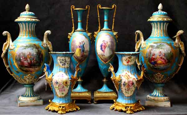 A world-class collection of 19th century French Sevres leads the charge at Christian McCann Auctions forthcoming sale from noon Sunday September 27 at 426 Burnley Street, Richmond. The Sevres collection, comprising 40 mainly ormolu mounted Celeste and Cobalt blue pieces, is unlikely to be matched in the foreseeable future.